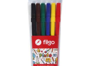 marcadores escolares x 6 Filgo